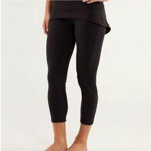 Lululemon Steadfast Black Skirted Cropped Pants
